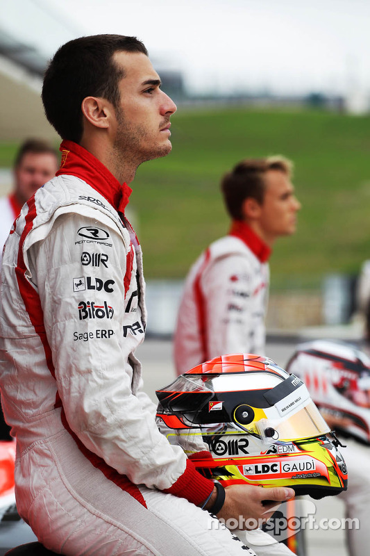 Jules Bianchi, Marussia F1 Team com a equipe de fotografia