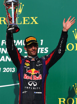 El tercer lugar Mark Webber,del Red Bull Racing