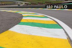 The pit lane exit