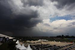 Nuvens de tempestade sobre o circuito
