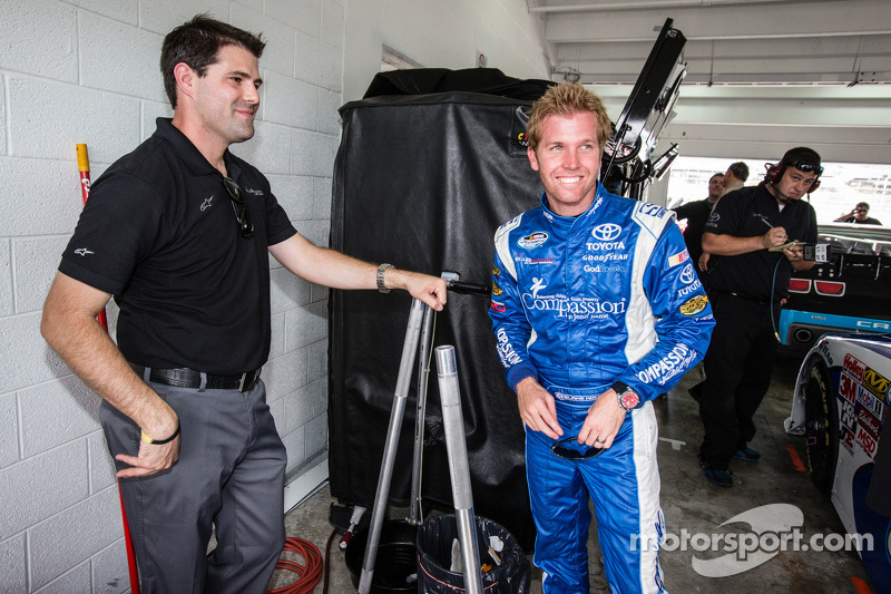 Blake Koch viert zijn voorlopige pole position