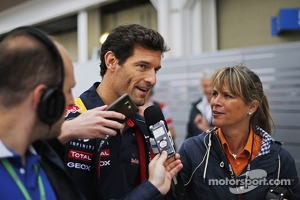 Mark Webber, Red Bull Racing with the media