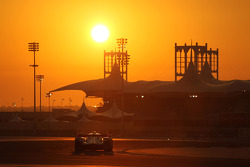 Sunset racing action