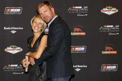 Clint Bowyer and fiance Lorra Podsiadlo at the NASCAR Evening Series