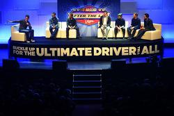 Matt Kenseth, Greg Biffle, Kyle Busch, Jeff Gordon, Dale Earnhardt Jr. and Joey Logano during NASCAR After The Lap