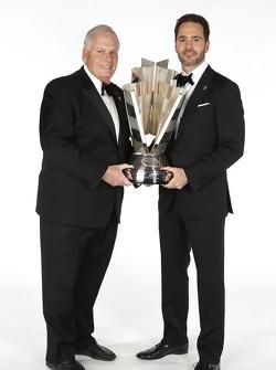 2013 champion Jimmie Johnson and team owner Rick Hendrick