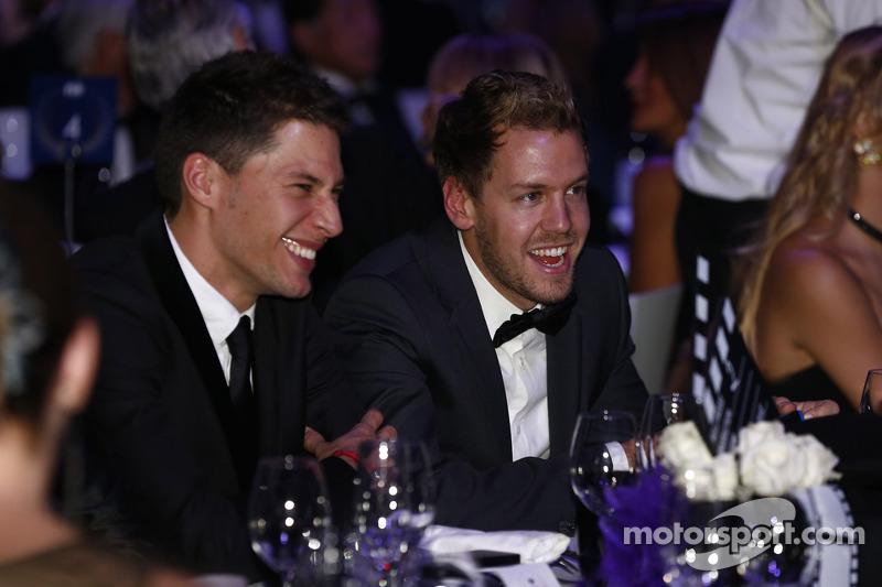 Loic Duval e Sebastian Vettel