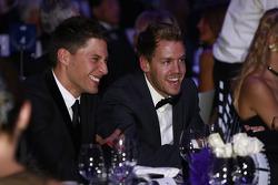 Loic Duval and Sebastian Vettel
