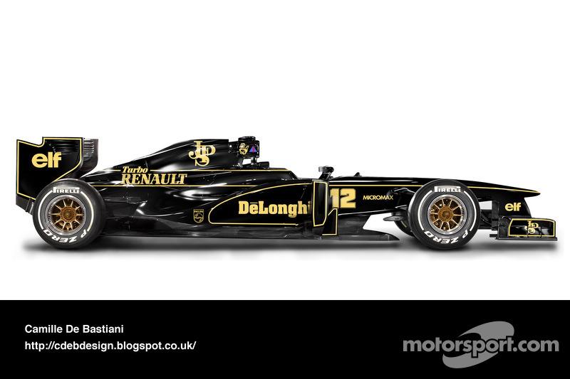 Formel-1-Auto im Retrodesign: Lotus 1986