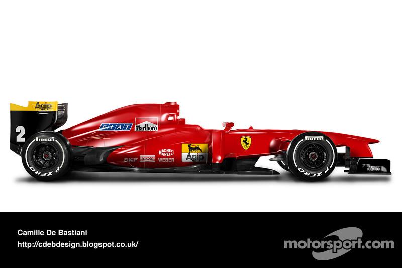 Carro de F1 retrô - Ferrari 1990