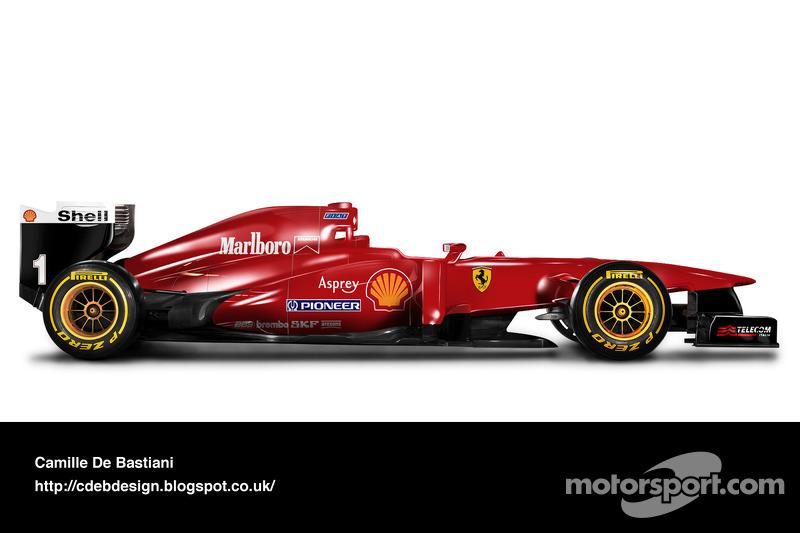 Carro de F1 retrô - Ferrari 1996