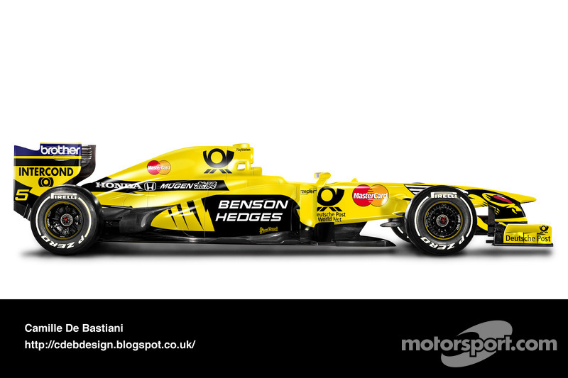 Formel-1-Auto im Retrodesign: Jordan 2000