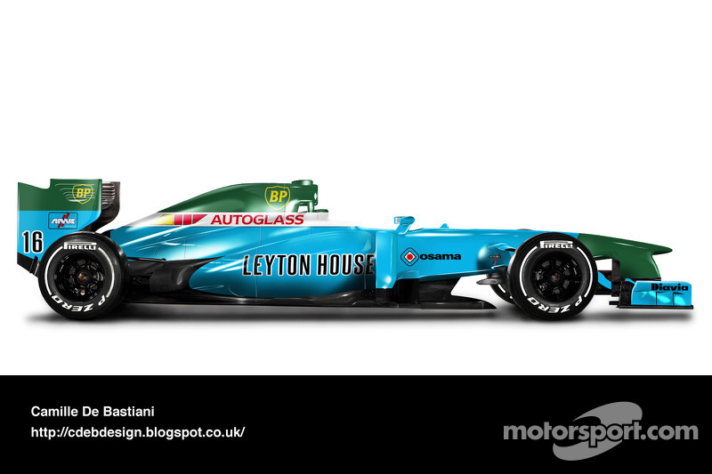 Formel-1-Auto im Retrodesign: March 1991