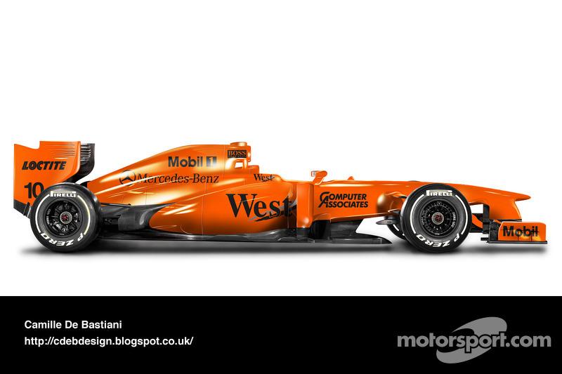 Carro de F1 retrô - McLaren 1997 pré-temporada