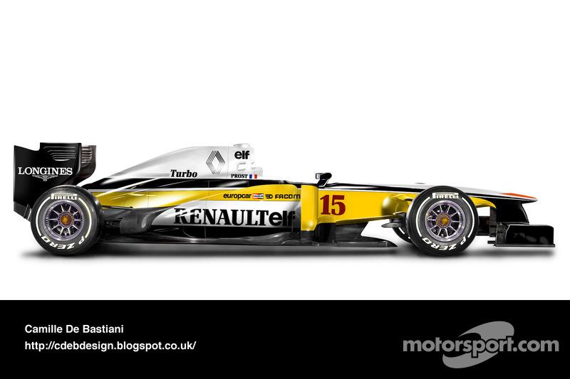 Carro de F1 retrô - Renault 1982