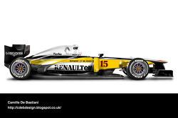 Retro F1 car - Renault 1982