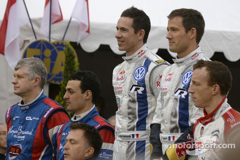 Vincitori Sébastien Ogier e Julien Ingrassia, secono posto Bryan Bouffier and Xavier Panseri, terzo posto Kris Meeke