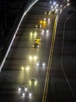 Corrida ação à noite