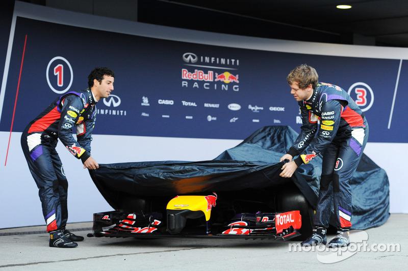 Daniel Ricciardo, Red Bull Racing; Sebastian Vettel, Red Bull Racing