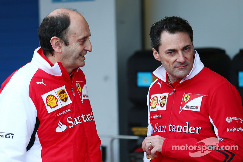 (L to R): Luca Mamorini, Ferrari Head of Engine and Electronics Department with Andrea Beneventi, Ferrari Head of Electronics for Track and Test and Head of Support for Electronic Applications