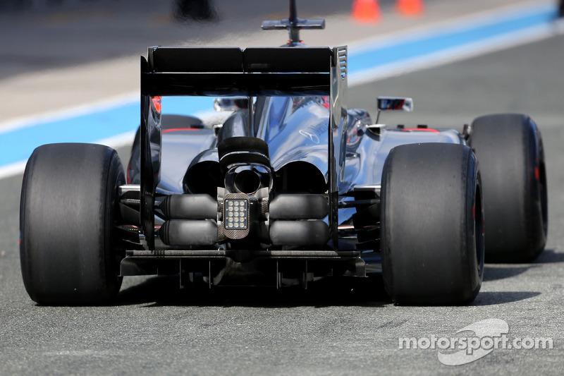 Jenson Button, McLaren F1 Team, dettaglio tecnico  della sospensione posteriore