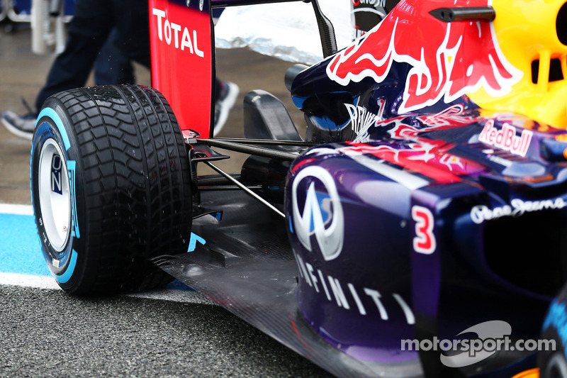 Daniel Ricciardo, Red Bull Racing RB10 rear suspension detail