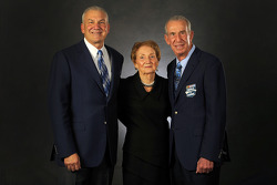 2014 inductee Dale Jarrett with mother Martha, and father Ned Jarrett