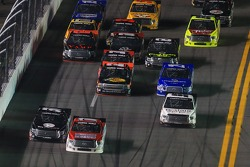 Kyle Busch passes Timothy Peters for the win