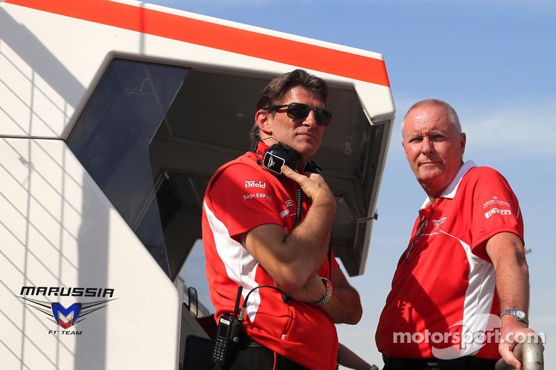 Graeme Lowdon, Amministratore Delegato Marussia F1 Team e John Booth, Marussia F1 Team Team Princip