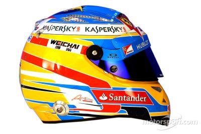 Cascos de los pilotos para el 2014
