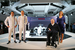 Felipe Massa et Valtteri Bottas, Sir Frank Williams, Claire Williams, Williams Martini F1 Team