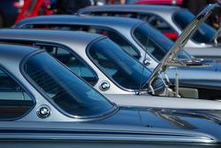 Row of BMW CSLs