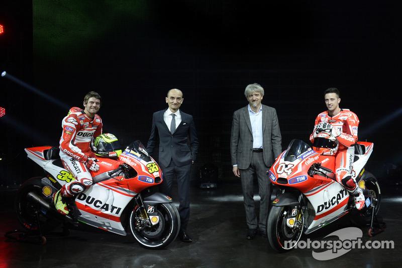 Ducati basın konferansı, Andrea Dovizioso ve Cal Crutchlow