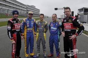 The 5 BTCC Champions Gordon Shedden, Andrew Jordan, Colin Turkington, Fabrizio Giovanardi and Matt Neal who were all in action at Brands Hatch
