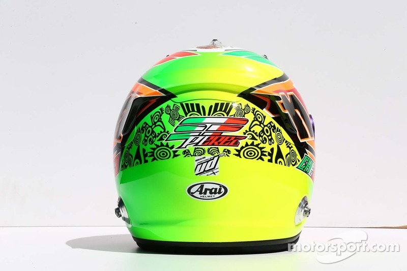 Casco de Sergio Pérez, Sahara Force India F1
