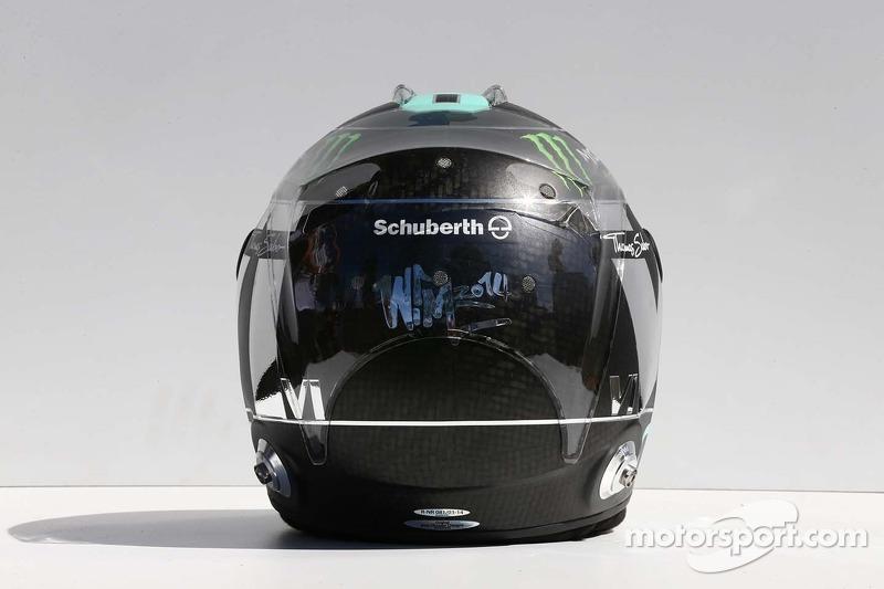Il casco di Nico Rosberg, Mercedes AMG F1