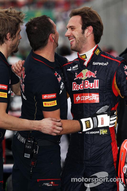 Jean-Eric Vergne, Scuderia Toro Rosso celebra