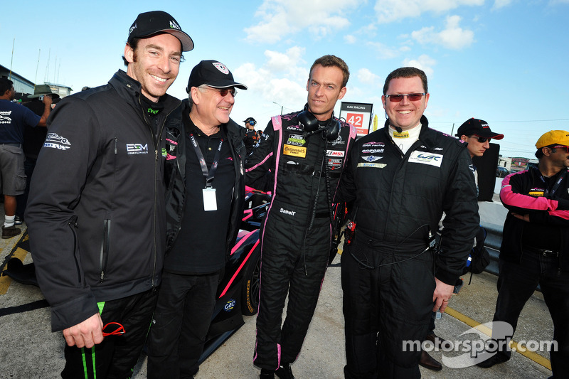 Simon Pagenaud, HPD Honda, Jacques Nicolet, OAK Racing e Philippe Dumas, OAK Racing