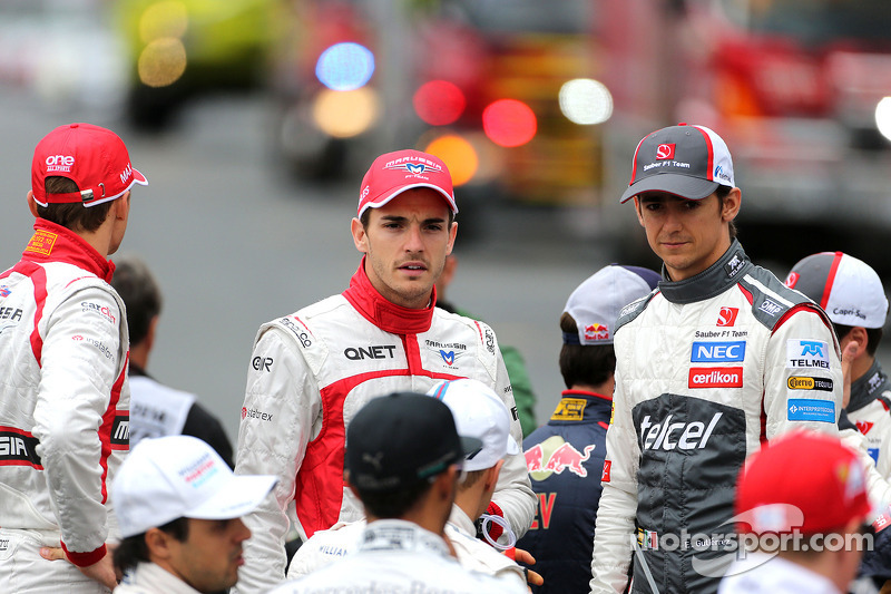 Esteban Gutierrez, Sauber F1 Team and Jules Bianchi, Marussia F1 Team