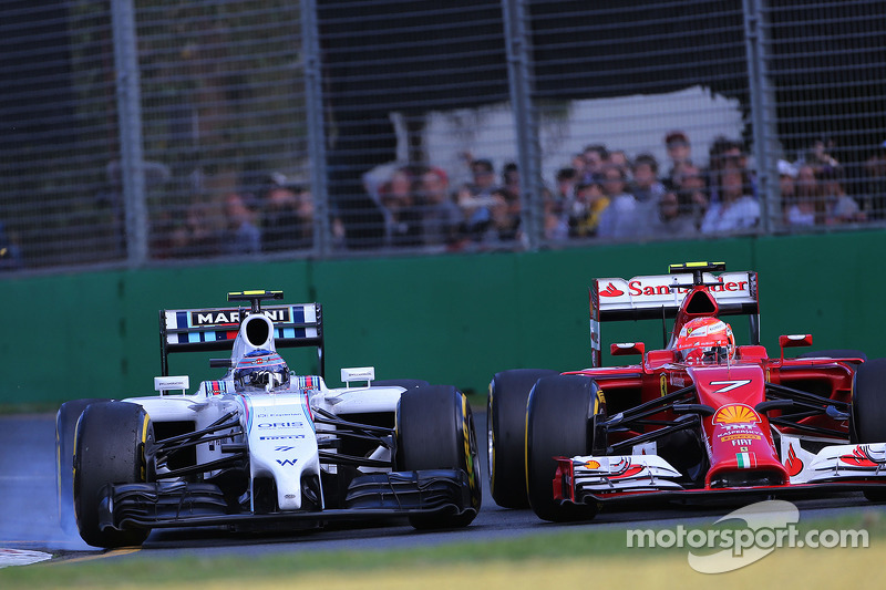Valtteri Bottas, Williams F1 Team e Kimi Raikkonen, Scuderia Ferrari 16