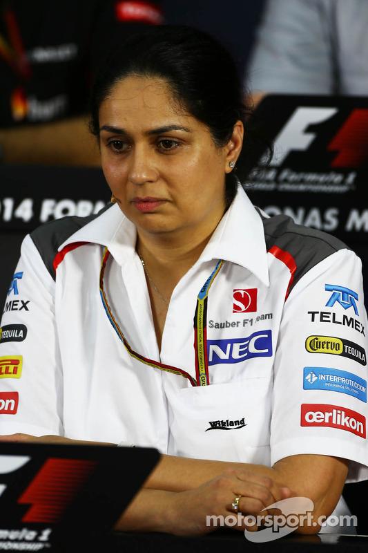 FIA-Pressekonferenz: Monisha Kaltenborn, Sauber, Teamchefin