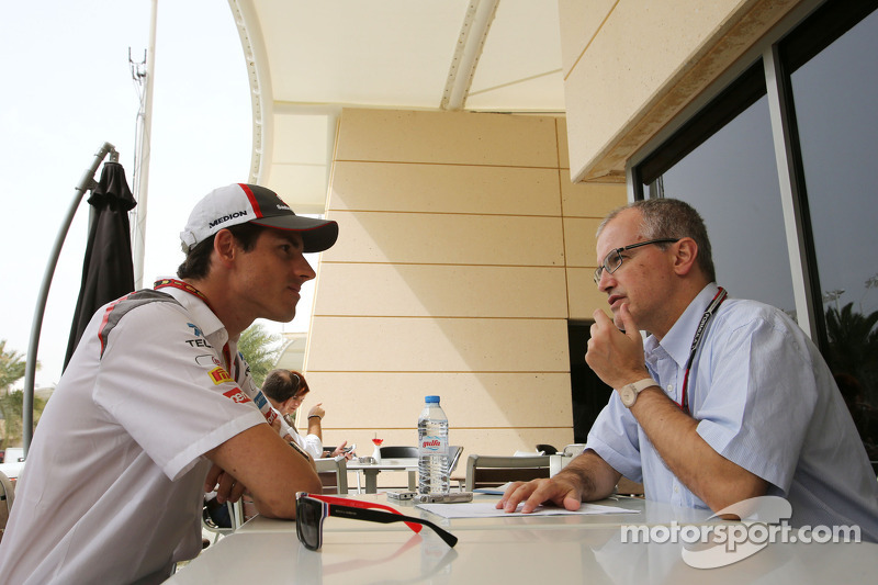 Adrian Sutil, Sauber F1 Team and Luis Vasconcelos, F1 Journalist