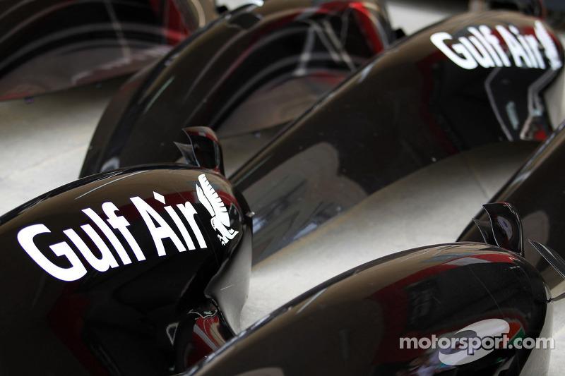 Marchio Gulf Air sulle fiancate MP4-29 McLaren