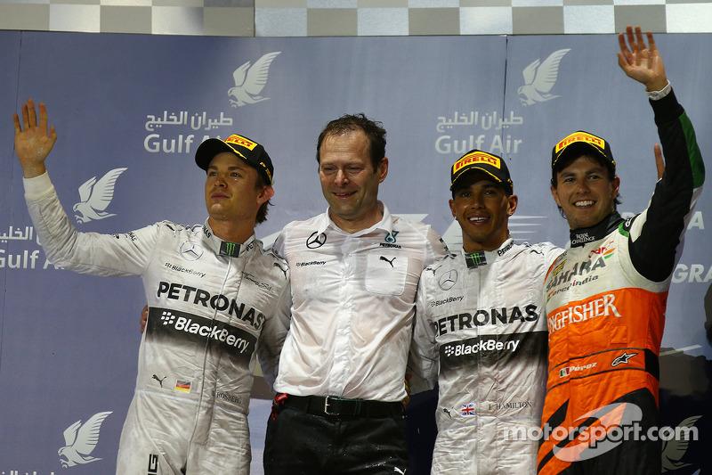 2014 - 1. Lewis Hamilton 2. Nico Rosberg 3. Sergio Pérez