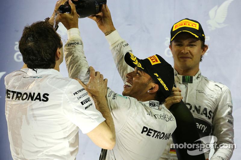 1. Lewis Hamilton, Mercedes AMG F1; 2. Nico Rosberg, Mercedes AMG F1