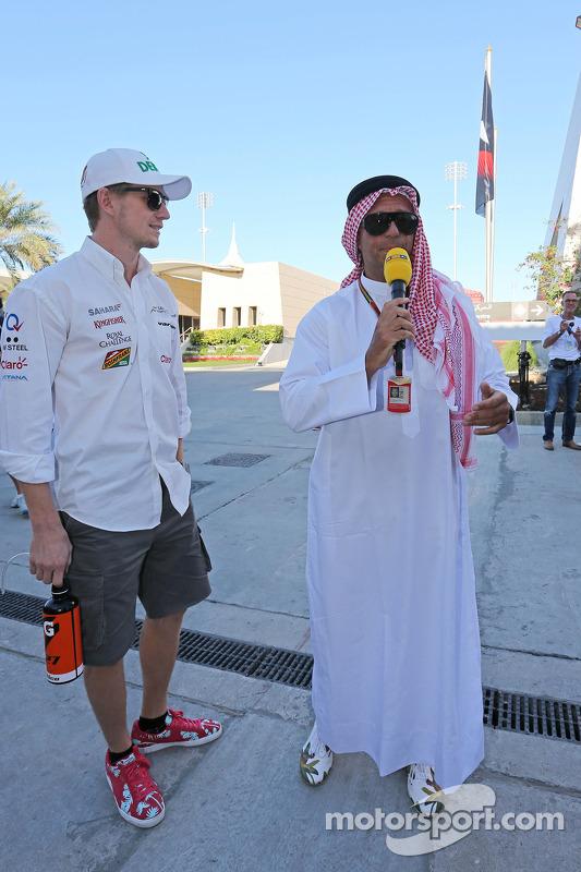 Nico Hulkenberg, Sahara Force India F1, com Kai Ebel, RTL TV