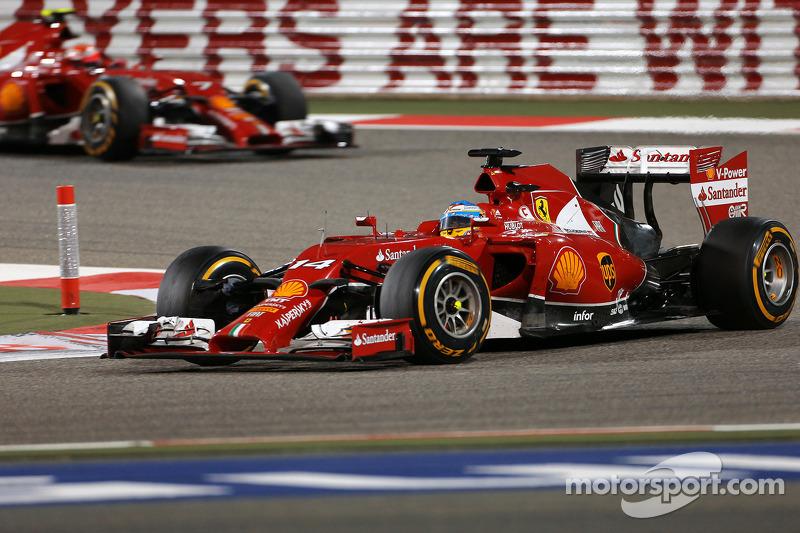 Fernando Alonso, Ferrari F14-T; Kimi Räikkönen, Ferrari F14-T