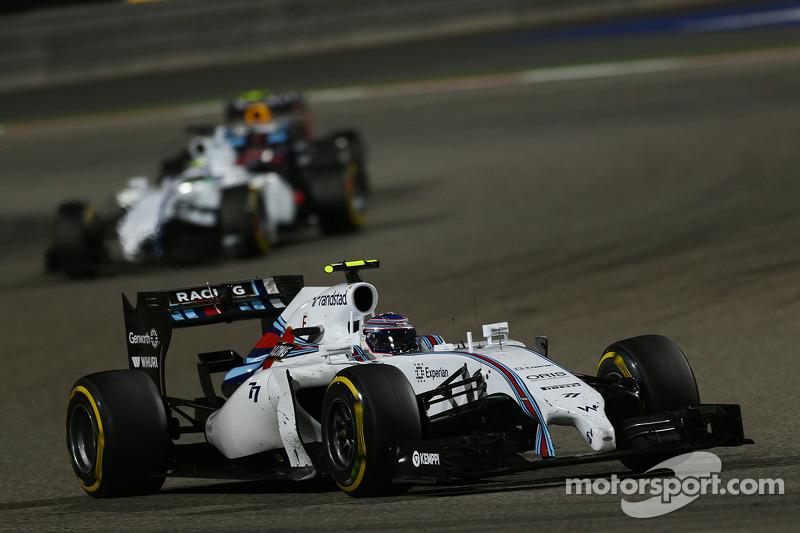 Valtteri Bottas, Williams FW36 e Felipe Massa, Williams FW36