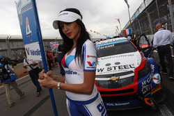 Tom Coronel, Cevrolet RML Cruze TC1, Roal Motorsport  and Grid Girl