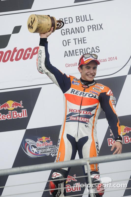Vencedor da corrida Marc Marquez